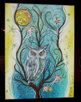 its owl in the curves by PaintingCleverly