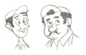 Luigi and Guido human sketches by PixarVixen