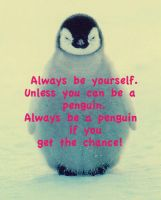 Always be a Penguin by iBeci