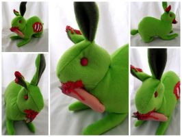 Zombie Bunny with FINGER by IckyDog