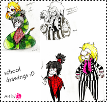 drawings at school by ToNDWOo