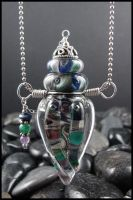 Cassiopeia - Lampwork Bottle by andromeda
