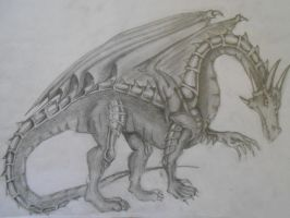 Traditional Dragon by Rhelna