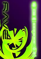 Rave - Poster Green 2 by Magic92