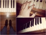 Collage: Piano by xsilver-cloudx