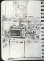 Sketchbook: the kitchen by metalparts