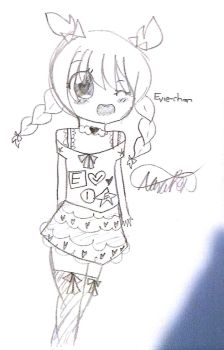A Sketch of my OC, Evie-chan! by Narangie