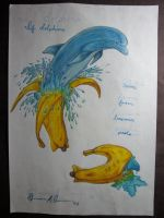 If Dolphins Came From Banana Peels by browens13