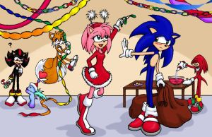 Sonic's Christmas party -fin- by chibibecca