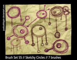 Brush Set 55 - Sketchy Circles by punksafetypin