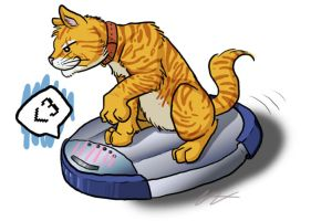 Cats on Roombas by blademalfoy