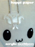 Happi Paper Acrylic Necklace by lafhaha