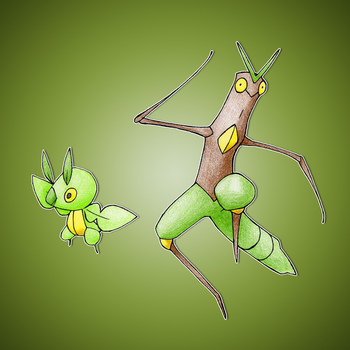 Leaf and Stick Insect Fakemon by FakeMakeT