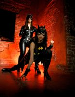 Batgirl and Catwoman by Almost-Focused