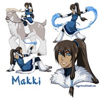 Waterbender OC - Makki by Majime