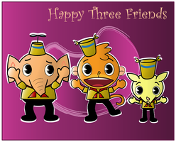 Happy Three Friends by Jovimia