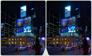 Dundas Yonge Square 3-D-HDR/Raw Cross-View Stereo by zour
