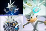 Silver The Hedgehog STATUE F4F / DETAILS 2 by mathi88