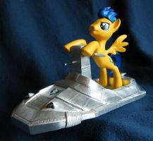 Flash Sentry flying blind on a rocketcycle by PrototypeSpaceMonkey
