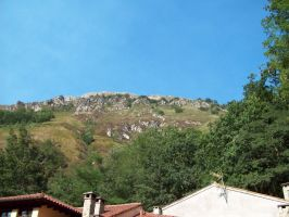 100 1667 Walking to Covadonga trees and forest by fueledbyfreestock
