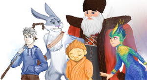 Rise of the Guardians by cookiecutter60