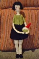 Amigurumi doll Amelie Poulain by gengibrecroche