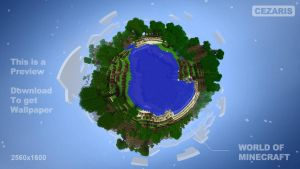 World Of Minecraft Wallpaper by CezarisLT