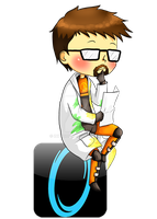 Gordon Freeman thinking by InkyDoc
