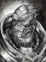 Garrus Portait - contest prize by efleck