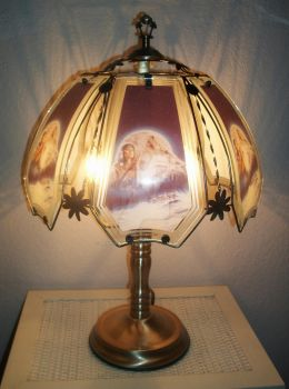 Native American Wolf Lamp by AngelRinoaHeartilly