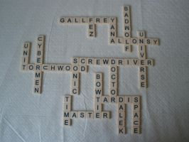 Doctor Who by Bananagrams by pandorical
