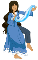 Allegra Garcia as a Waterbender by JustASillyFilly