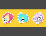 Pixel Badges: Gash, Dart, and Oillet by SailingScum