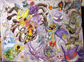 All Ghost Pokemon Up to 5th Gen by Emakura