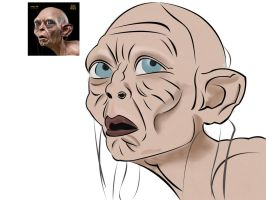 Vectorize Gollum by ahdaiba
