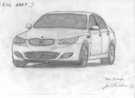 BMW M5 drawing by Jannomag