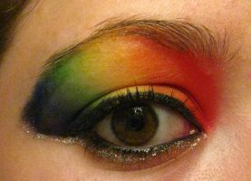 Rainbow Makeup by xblacked