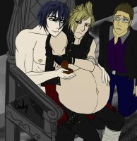 Commission - Noctis and Prompto Mpreg by CnightMpregVoreBellY