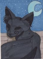 Creep Cat ATC 1 by anne-t-cats