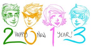 Happy Homestuck New Year by Heather-Scribble