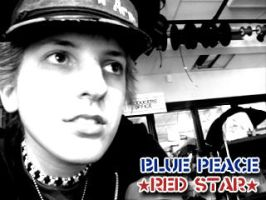 BLUE PEACE RED STAR by archimer