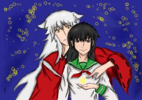 Inuyasha and Kagome by redXDdoggy195