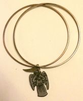 Weeping angel bangles set by Lovelyruthie