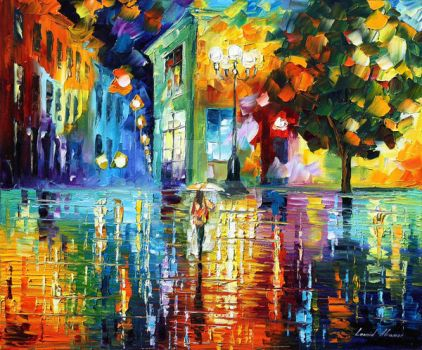 Wonderful Night by Leonid Afremov by Leonidafremov