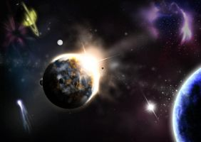 Eclipse in space by jesus-fritz