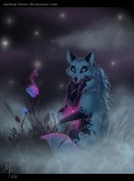 Flower in the mist by Melona-F
