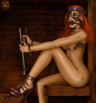 Girl in the iron mask by chain-man