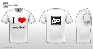 I love deviantART - T shirt by X100-Styles