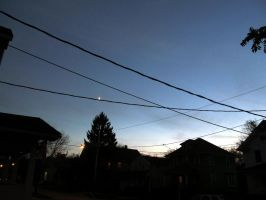 The Moon In The Sky by POETRYTHROUGHLENS