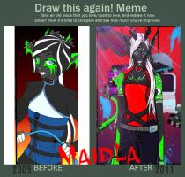 Before and After: Maidla by Fantasy-Creature